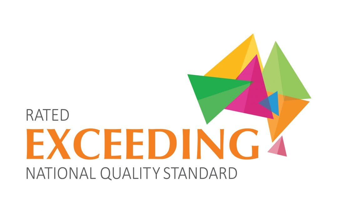 KIDS COLLEGE CHILDCARE, RATED AS EXCEEDING THE NATIONAL STANDARDS